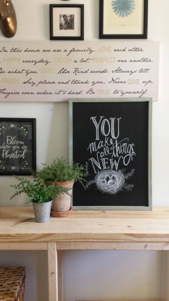 You make all things new decorative chalkboard home decor for Decorative things home