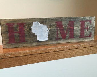 HOME wood sign - choose your state!