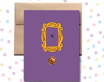 Purple Door Gold Frame Card. Friends Card. Any Occasion Card.