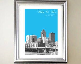 Des Moines Personalized Cityscape