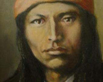 Naiche Chiricahua Apache Chief Print by Neil Munn