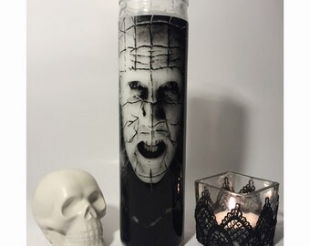 Pinhead Hellraiser Prayer Horror Candle