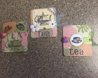 Set of 3 tea bag holders