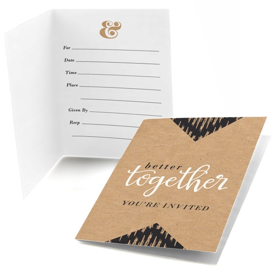 Better together party fill in invitations bridal for Bridal shower fill in invitations