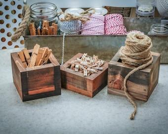 Gifts for her, Craftroom organization, Farmhouse decor, rustic box, office organization