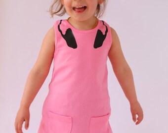 Baby Girls Pink DJ Headphones Dress