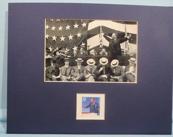Theodroe Roosevelt Runs for President in 1912 as a Bull Moose honored by his own stamp