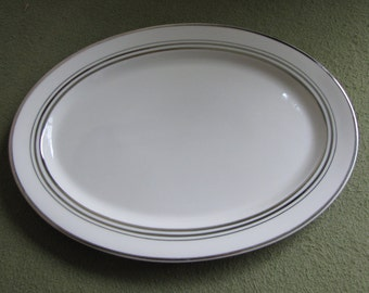 Syracuse China Old Ivory Meat Platter Nimbus Gold Trimmed 1949-1967
