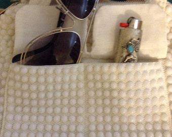 White beaded 1960 purse