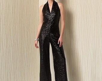 Vogue Sewing Pattern V1506 Misses' Sleeveless Wide-Leg Jumpsuit