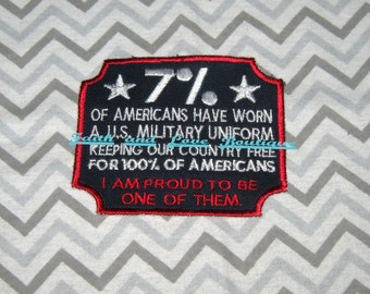 Veterans Ready made Patch