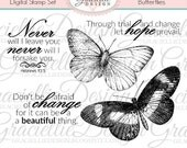 Butterflies Digital Stamp Set