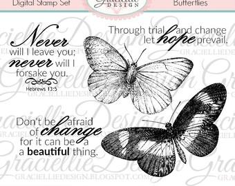 Butterflies Digital Stamp Set