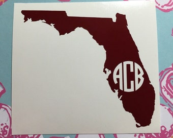 State Monogram Decal- Any State!