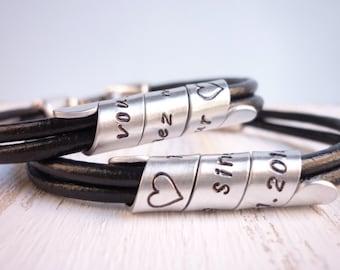 matching couples bracelets, personalized couples bracelets, couples set, custom couples bracelets, secret message bracelets