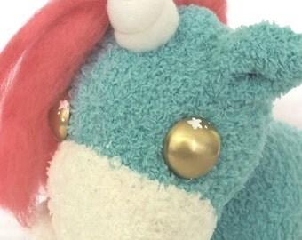 Unicorn sock plushie