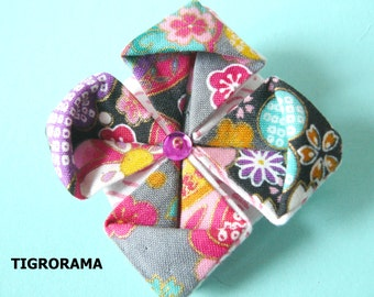 origami lotus flower brooch