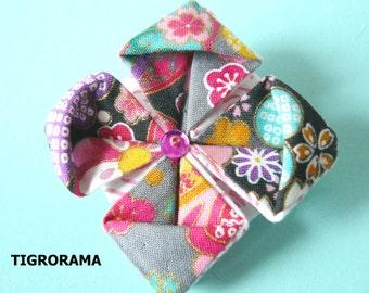 origami lotus flower brooch