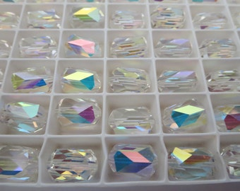 Swarovski Barrel Shaped Bead Crystal AB  13.5 x 9mm Art 5204 (6 beads)