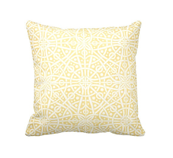 Standard Throw Pillow Cover Sizes : 7 Sizes Available: Decorative Pillow Cover Throw Pillow Yellow