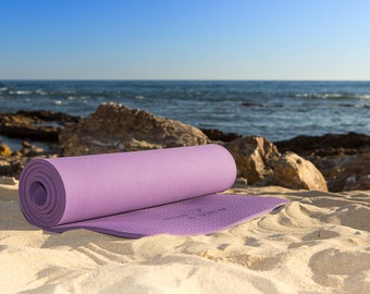 Namaste by Everlom Yoga Mat - Extra Thick TPE mat for Exercise at Home, Gym, Barre, Pilates- Non Slip, Toxic Free, Waterproof Tear Resistant