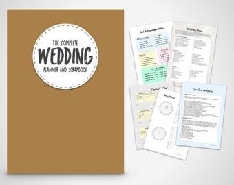 Wedding Organiser Printable Planner The Complete Book