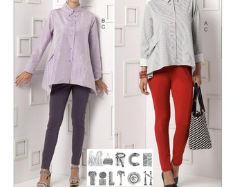 Vogue Pattern V9174 M' Double-Collar Shirts and Seam-Detail Pants