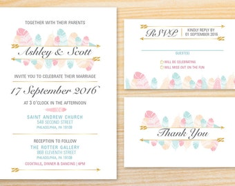 PRINTABLE Wedding Invitation: Two Birds of a Feather Collection
