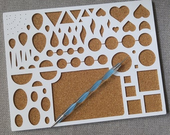 Paper Quilling Workboard Kit Set//Slotted Shaped Cork