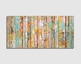 Abstract painting Abstract Painting Abstract Art, Original painting, Modern 34x70 cm / 13x27,6 inch Horizontal painting