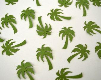 Palm Tree Confetti - 100 Pieces - Green Table Scatter - Summer Luau Party Decoration - Beach Theme Decor - Hawaiian Luau - Laser Cut