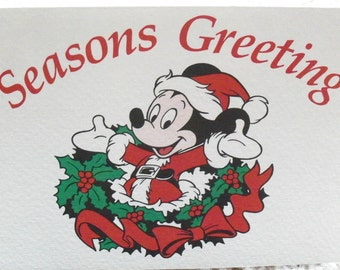"Vintage 1985 ""Seasons Greeting"" Walt Disney World Resort Holiday Greeting Card"