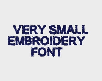"""Very Small Embroidery Machine Font (0.18"""" high) Uppercase letters only - Item # 1064A"""