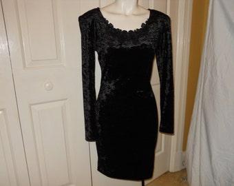 vintage All That Jazz velvet dress size 4