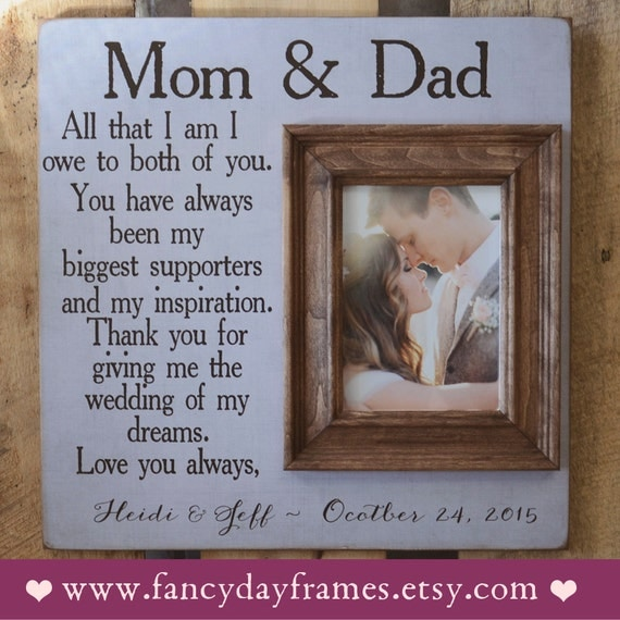 Wedding Gifts Parents: Parents Thank You Gift Wedding GIft For Parents By