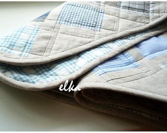 """Baby quilt Blue / Детское лоскутное одеяло """"Голубое"""""""
