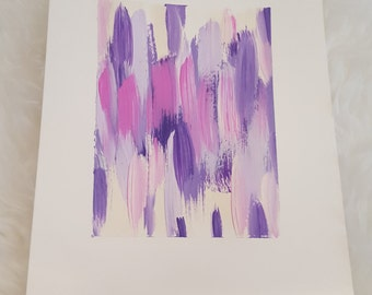 Hand Painted Art Print - Purple Murple
