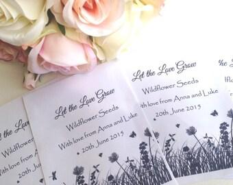 Wild Flower Seed Wedding Favour