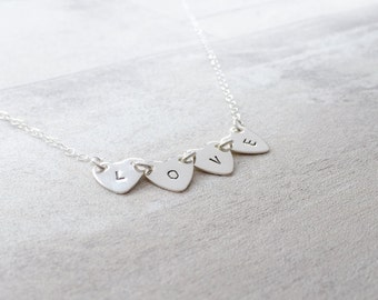 Heart Chain Necklace in Sterling Silver