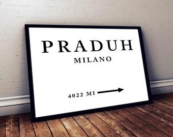 Praduh Milano Digital Print