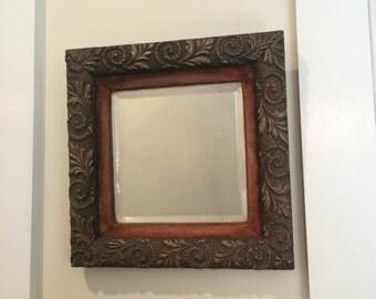 Antique beveled mirror