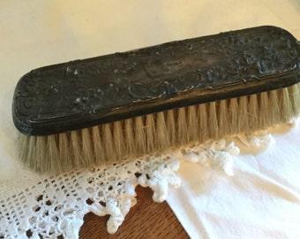 """Vintage Antique Silver Clothes Brush; 7"""""""