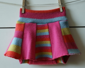 M size upcycled wool diaper cover, soaker skirtie, wool skirties