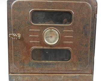 """Antique Milcor Portable Camping Hiking Oven Stove w/ Heat Indicator 12"""" x 12"""""""