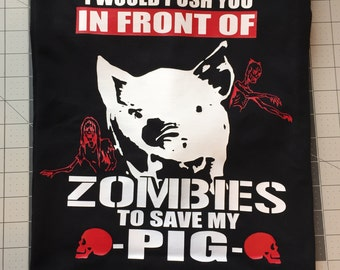 I would Save my Pig from a Zombie t-shirt
