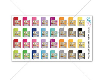 Itty Bitty Refrigerator Stickers! Itty Bitty Planner Stickers, Cleaning Stickers, Sew Much Crafting Stickers, Personal Planner #SQ00599