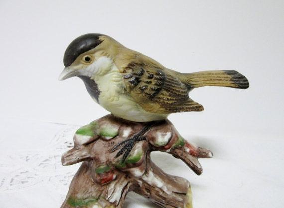 Porcelain bird chickadee bisque porcelain by porcelainchinaart - Chickadee figurine ...