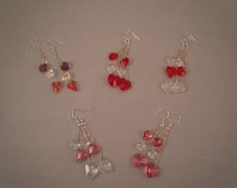 Valentine Earrings: Swarovski Crystal & Sterling Silver
