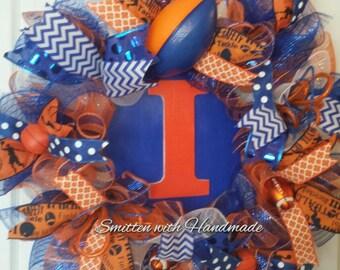 Sports Wreath, Sports Decor, football wreath, School Team Wreath, High School Wreath, School Spirit Wreath