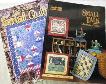 Lot 2 Books Quilting Sewing Patterns Instructional Paperback Book B804